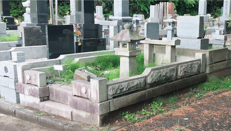 墓石を撤去しました